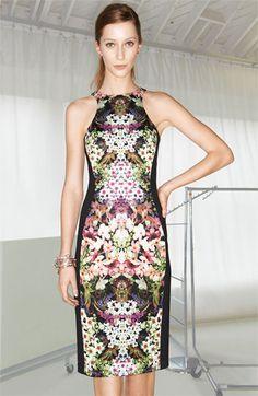 I soooo want this dress! Maggy London Print Sheath Dress | Nordstrom