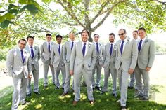 Love the light suits for a summer wedding