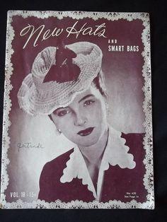 Reserved for PurseFancy World War 2 Era dated 1944 New Hats Crochet Booklet…