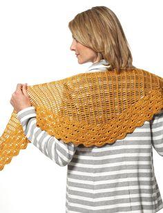 Grace - Staggered Shells Wrap (crochet) - Patterns  | Yarnspirations
