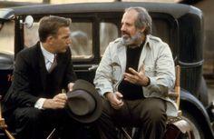 THE UNTOUCHABLES, Kevin Costner, director Brian De Palma, on set, 1987. ©Paramount