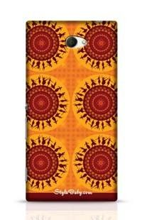Illustration Of Indian Classical Dancer Sony Xperia M2 Phone Case