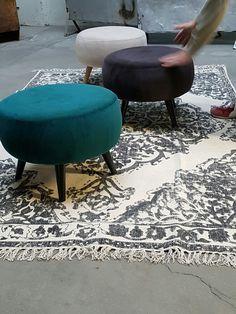 Fantastisk bomulls teppe med stort klassisk medaljong mønster