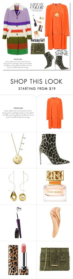 """""""Life in Color"""" by ellie366 ❤ liked on Polyvore featuring Talbot Runhof, Meira T, STELLA McCARTNEY, Leigh Miller, Tory Burch, Sephora Collection, Tuscany Leather, WorkWear, LeopardPrint and BoldStripes"""