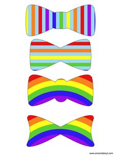 Bowties from Rainbow Dash Inspired Printable Photo Booth Prop Set