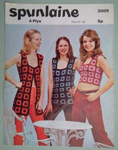 Vintage Crochet Pattern 1970s  - crochet squares -- I think I'll surprise @k . C @Ashley Walters  and @Kari Jones Zito  and make them each one.  Question is, who will look best in which pattern?  hmmm......