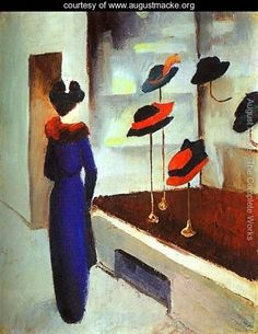 'The Milliner's Shop' (1913) by German Expressionist painter & one of the 3 founders of Der Blaue Reiter, August Macke (1887-1914). via the blog Still Chaos