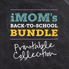 The best back to school printable all in one place!  That's what you'll find in iMOM's Back to School Printable Collection.  Start printing today because we have everything you need to help your child have a great school year. #happyhome #backtoschool #organization