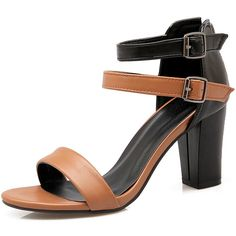 AIWEIYi Womens Mix Color Chunky High Heel Shoes Buckle Strap Gladiator Sandals -- Find out more about the great product at the image link.