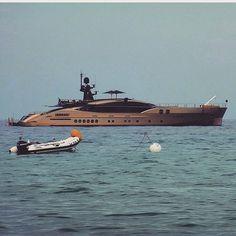 Db9 #superyacht #mediterranean #luxurylifestyle #tenders #watersports #jetski #cruising by designfromsouth