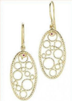 She'll love these beautiful bollicine drop earrings by Roberto Coin.  We have a matching bracelet, too!