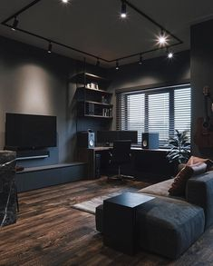 Cozy Small Living Room Decor Ideas For Your Apartment - Living Room - lmolnar - Best Design and Decoration You Need Design Loft, Loft Interior Design, Home Office Design, Home Design, Home Office Setup, Design Ideas, Design Homes, Modern Design, Modern Man