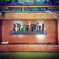 The Pourhouse, Port Townsend, WA. Tap area designed, cut, milled, and built by Brendon Piskula of Brahdy & Brahdy Custom & Attractive Lighting.