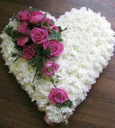 Lys Davidson @ The Flower Studio: Funeral Flowers, Duntocher Clydebank Deco Floral, Arte Floral, Floral Design, Funeral Floral Arrangements, Flower Arrangements, Beautiful Rose Flowers, Silk Flowers, Memorial Flowers, Cemetery Flowers
