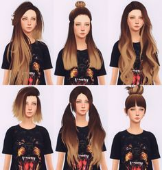 """elliesimple: """" [elliesimple] - Hair recolor ombré blond version of my latest recolor, requested by ilovesaramoon. Here it is :) /! IF YOU HAVE ALREADY DOWNLOAD THE RED VERSION, REPLACE BY THIS FILE /! ~ DOWNLOAD ~ if you use my recolor tag me at..."""