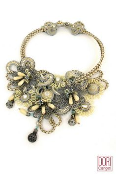 Perception high fashion bib necklace by Dori Csengeri