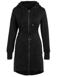 GET $50 NOW | Join RoseGal: Get YOUR $50 NOW!http://www.rosegal.com/coats/hooded-drawstring-asymmetrical-coat-865318.html?seid=6906459rg865318