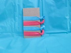 Elastic hair ties  *Turquoise *Coral *FREE SHIPPING!!!*