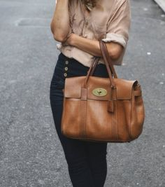 This is THE bag. Mulberry why do you have to be so expensive?! Someday I will own this flawless tan satchel wonder.