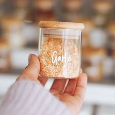 """Pantry Organisation Labels ™ on Instagram: """"Our herb and spice jars are definitely one of our top sellers - there is just something so satisfying about see your jars all neatly…"""" Kitchen Organisation, Kitchen Storage, Kitchen Jar Labels, Custom Pantry, Black Bamboo, Storage Sets, Little Designs, Spice Jars, Custom Labels"""