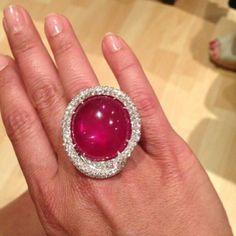 Ruby & diamond ring #bjc #bahrainjewellerycentre #85 #carat #ruby #diamond #whitegold #ring #bahrain #alaalimall