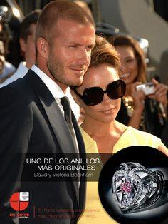 Uno de los anillos de compromismo más originales / David y Victoria Beckham