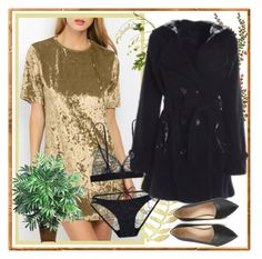"""Gold and Black"" by carola-corana ❤ liked on Polyvore featuring OKA and Nearly Natural"