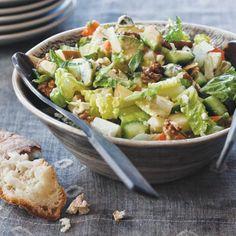 Chopped Salad with Blue Cheese Dressing  - Delish.com