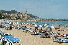 Sitges, Spain - just south of Barcelona. We visited here in 1999