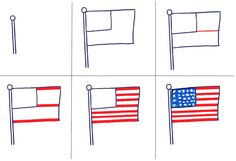 How To Draw The American Flag Art For Kids Hub Cc Fine Arts