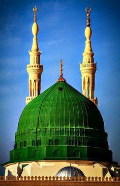 I love Gumbad e Hizra Al Masjid An Nabawi, Mecca Masjid, Masjid Al Haram, Medina Islam, Medina Mosque, Islamic Images, Islamic Pictures, Islamic Art, Sufi Saints