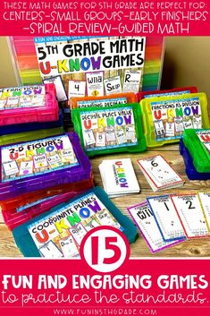 If you teach 5th grade math and your students LOVE games, then this U-Know bundle is for you! Kids loving practicing their math skills when they get to play U-Know! Great for test prep, small groups, centers/stations, or early finishers to review and practice all of the common core standards for 5th grade. Teach this game once and then use it to spiral the math content and standards for your students all year long.