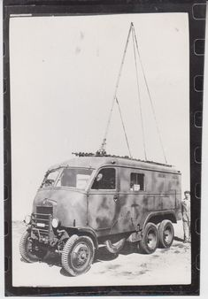 """Italian radio van built on the chassis of the truck """"Dovunque 35""""."""