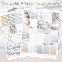 Planner Onelove: Free Printable Planner Stickers for Erin Condren & Recollections Planner- White Summer Daze Free Planner, Happy Planner, Planner Diy, Planner Inserts, Planner Ideas, Monthly Planner, Printable Planner Stickers, Free Printables, Printable Calendars