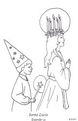 st lucia coloring page one of my favorite things of swedish christmas