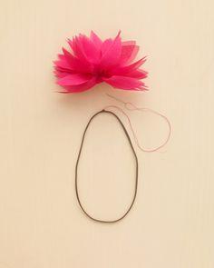Fabric Flower Headband - Martha Stewart Weddings Fashion & Beauty
