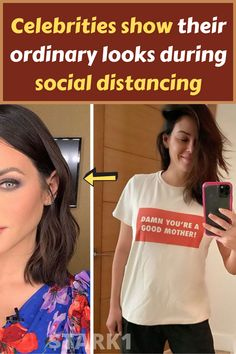 Celebrities show their ordinary looks during social distancing