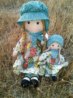 Original 1970s Holly Hobbie Dolls Set of 2 van JUNQFUSION op Etsy