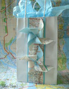 DIY Map Gift Bag