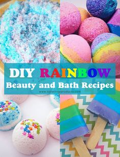 DIY Bath Bombs, Bath Salts and More! | ToiletTree Products. Easy to make and fun to look at!