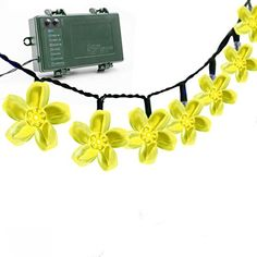 Vmanoo Battery Operated Timer String Lights 50 LED Blossom Flower Fairy Christmas Lighting Decor with For Outdoor Indoor Garden Patio Bedroom Wedding Decorations -- See this great product.