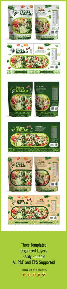 Salad Packaging Templates – Packaging Seller