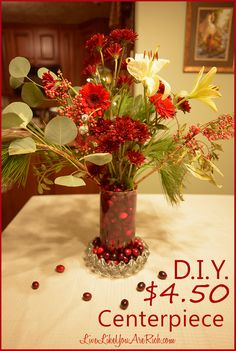 D.I.Y. Flower Centerpiece | Live Like You Are Rich