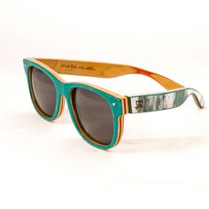 Love these glasses made of recycled skateboards :: Deck Specks- Classic - Skateboard Sunglasses - Spring 2013 - C05. $120.00, via Etsy.
