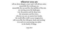 :: Mary Oliver