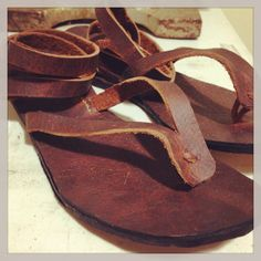All leather sandals made by hand  www.thesaddlebagco.com