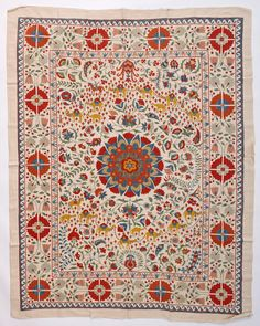 Silk Road Design Suzani with Camels on Adras, 155 x 180 cm