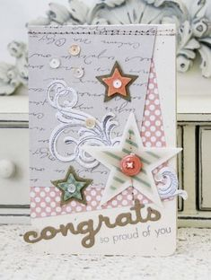 So Proud Of You Card by Melissa Phillips for Papertrey Ink (November 2013)