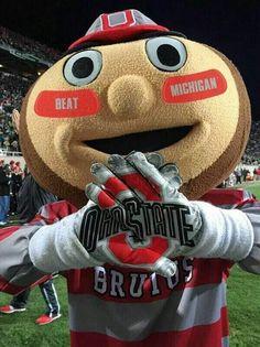 Brutus Buckeye on Ohio State Vs Michigan, Michigan Wolverines Football, Buckeyes Football, Ohio State University, Ohio State Buckeyes, Alabama Football, American Football, College Football, Football Memes