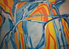 Maleri solen er tilbake 65x92 cm Johnny Røn Andersen